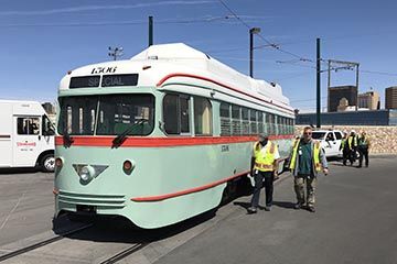El Paso PCC Streetcar No. 1506 Arrives in Texas
